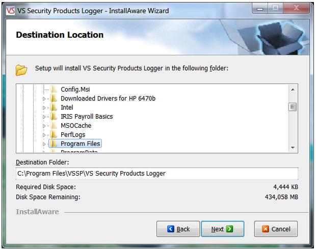 Data-Destruction-Auditor-software-installation-folder-menu