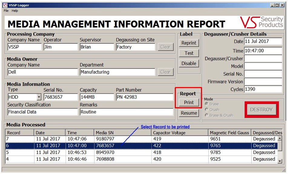 printing-data-report-software-degaussing-tool-verity-systems